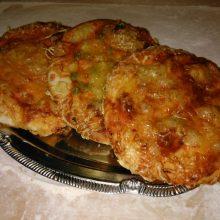 Mini pizza (sima, sonkás, zöldséges)