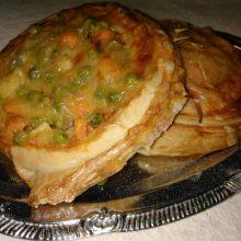 Pizzás csiga (zöldséges, sonkás)
